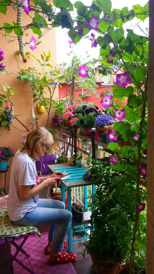 Un balcon jungle en pleine ville